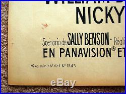 Vintage Original 1964 ELVIS PRESLEY VIVA LAS VEGAS Movie Poster Film musical