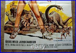 Vintage Original 1966 ONE MILLION YEARS BC Movie Poster REQUEL WELCH Sci-Fi Art