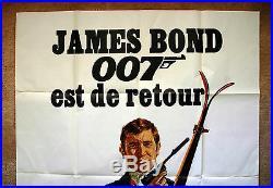 Vintage Original 1969 JAMES BOND 007 OHMSS Movie Poster 1sh Film ski alps art