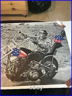 Vintage Original 1969 Peter Fonda Easy Rider Poster Large Size 51 X 29