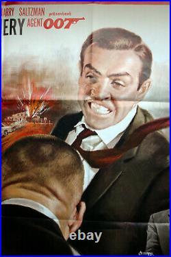 Vintage Original 1970s JAMES BOND 007 GOLDFINGER Movie Poster 1sh Film art