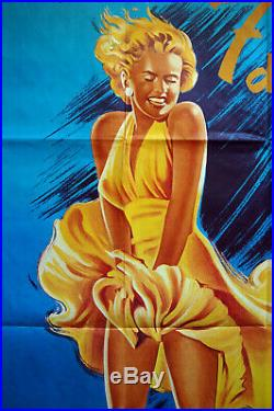 Vintage Original 1970s MARILYN MONROE 7 Year Itch Movie Poster Film Art 1sh