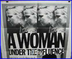 Vintage Original 1974 WOMAN UNDER THE INFLUENCE 1-Sheet RARE Style with CASSAVETES