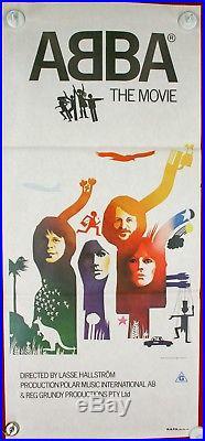 Vintage Original 1977 ABBA-the movie Australian daybill movie poster