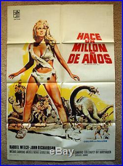 Vintage Original 1979 ONE MILLION YEARS BC Movie Poster REQUEL WELCH Sci-Fi Art