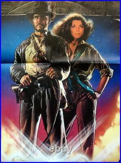 Vintage Original 1981 RAIDERS of the LOST ARK Movie Poster 1sh Indiana Jones
