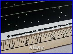 Vintage Original 1989 Twilight Zone Black Light Poster CBS National Trends Rare