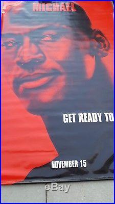 Vintage! Original 1996 SPACE JAM MICHAEL JORDAN/BUGS BUNNY Movie Vinyl Banners