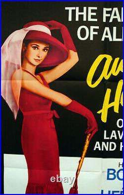 Vintage Original 65' SABRINA Movie Poster AUDREY HEPBURN Bogart 1sh Film art