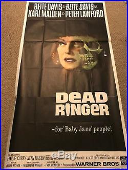Vintage Original Dead Ringer 3 Sheet 41 x 79 Movie Poster 42/64 Bette Davis