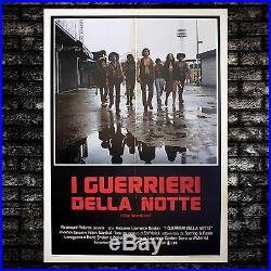 Vintage Original Movie Poster The Worriors I Guerrieri Della Notte 100x140 CM