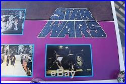 Vintage Original Star Wars Tom Jung 1977 Rare Proto Four-scene Rolled Poster