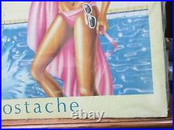 Vintage Palm Springs 1983 New wave drawing hot girl poster 80's 12968