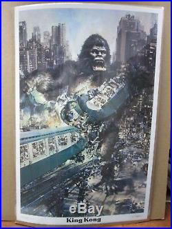 Vintage Poster KING KONG the Movie 1976 Inv#1042