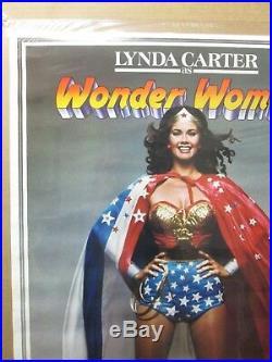 Vintage Poster Linda Carter as DC Comics Wonder woman the Movie 1977 Inv#3353