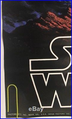 Vintage Poster Star Wars Original Movie Pin-up 1977 Hildebrandt Factors Fox 70's