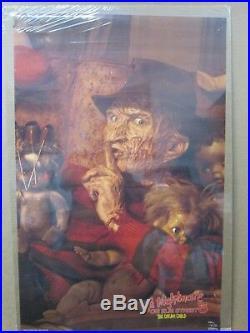 Vintage Poster nightmare on Elm street Movie 1980's horror dream child Inv#1907