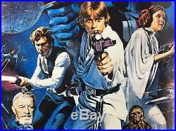 Vintage STAR WARS 1977 Original Movie Poster Litho PTW-531