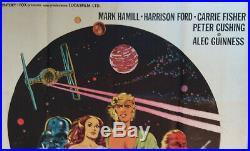 Vintage STAR WARS Italian Movie Theater Poster Guerre Stellari 1977 RARE
