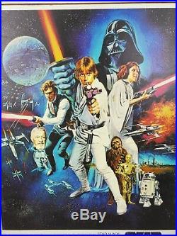 Vintage STAR WARS Original 1977 Movie Poster 36 x 24 Litho PTW-531