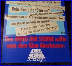 Vintage STAR WARS POSTER A1 German SDI Headline Plakat Krieg der Sterne StarWars