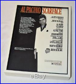 Vintage Scarface Movie Poster Collectible Sculpture by CODE 3 COLLECTIBLES