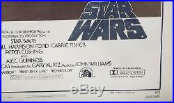 Vintage Star Wars 1977 Genuine One Sheet Style A Linen Backed Frame Ready Poster