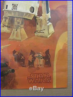 Vintage Star Wars Coca Cola movie poster 1977 Rd-D2 Aptoo-Detoo C-3PO 11928