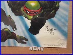 Vintage Teenage Mutant Ninja Turtles The Movie poster 1989 8480