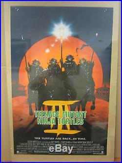 Vintage Teenage mutant ninja turtles III 1992 movie poster 2119