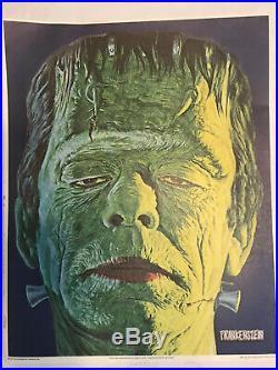 Vintage Universal Studios Monsters Posters Glow In The Dark 1975