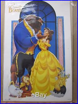 Vintage Walt Disney's Beauty and the Beast Poster old cartoon movie 12345