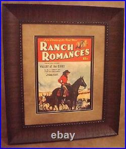 Vintage Western Movie Poster Framed Ranch Romances April 5, 1946