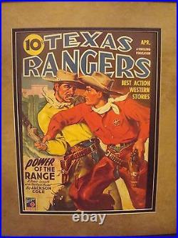 Vintage Western Movie Poster Framed Texas Rangers April 1944
