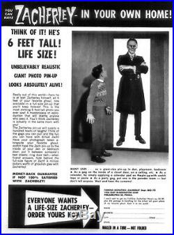 Vintage Zacherley 6 Foot Poster Sold in Famous Monsters of Filmland