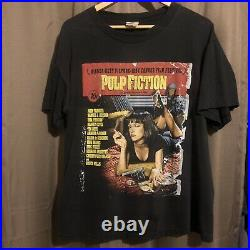 Vintage made in usa pulp fiction poster print t shirt sz large