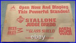 Vintage movie Standee Stallone Judge Dredd Movie The Glass Shield -Sealed
