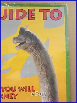 Vintage movie poster original Visitors guide to Jurassic park 1993 5476