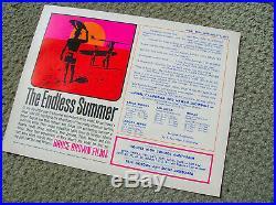 Vintage original Endless Summer surf movie poster surfing surfboard San Diego CA