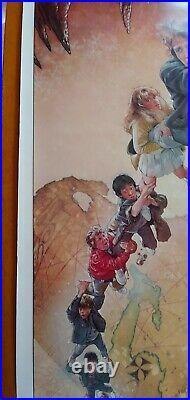 Vintage, original movie poster, 1985 Los Goonies (The Goonies), Spanish, rolled