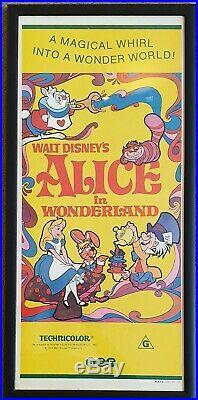Vintage original movie poster Alice in Wonderland in professional frame