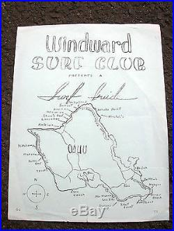 Vintage rare windward surf club hawaii surf movie poster surfboard surf spots