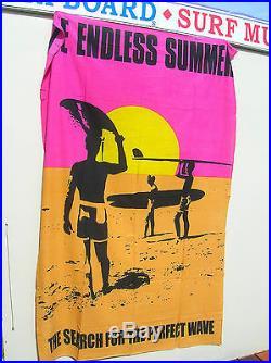 Vintage style super Huge endless summer surf movie poster banner surfboard WOW