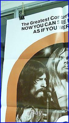 Vtg 1972 The Concert For Bangladesh Us 1sh Release 27x41 Orig Movie Poster