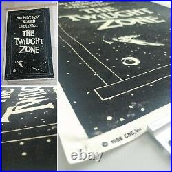 Vtg 1989 The Twilight Zone flocked black velvet glow in the dark TV Movie poster
