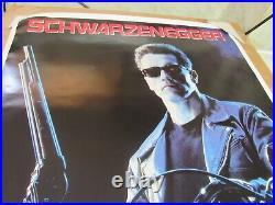 Vtg. 1991 Promotional Terminator 2 Judgement Day Poster
