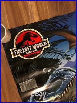 Vtg 1997 Original The Lost World Jurassic Park Dinosaur Poster Growth chart Rare