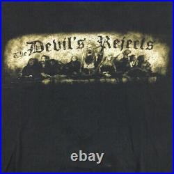 Vtg Devils Rejects T-Shirt Rob Zombie Movie Photo Poster Logo Graphic Tee 2XL