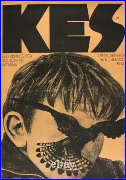 Vtg Orig. Movie Poster KES USA Bradley Glover Fletcher Loach Falcon 1969