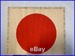 Vtg Original Modern 1967 Vittorio Montreal Int'll Film Festival Poster (A35)